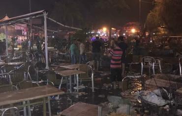 عشرات القتلى والجرحى بتفجير إرهابي  في الكرادة وسط بغداد