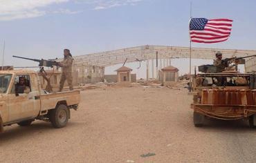 تدمير القاعدة الأمريكية الرئيسية في جنوب سوريا