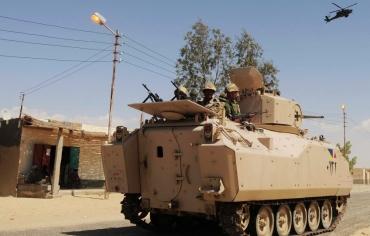 الجيش المصري يقضي على 9 إرهابيين شمال سيناء