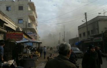 عشرات القتلى والجرحى من حركة نور الدين زنكي بانفجار سيارة مفخخة وسط مدينة إعزاز  بريف حلب الشمالي