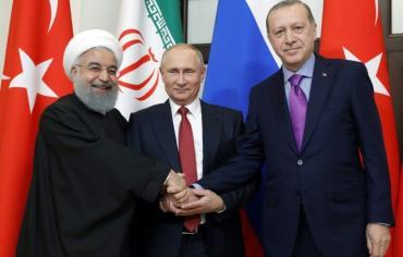 بوتين وروحاني واردوغان يتفقون على عقد مؤتمر حوار وطني سوري في روسيا