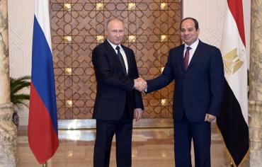 القدس و روسيا وليبيا والإقتصاد محاور اللقاء التأريخي بين بوتين والسيسي