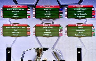 كأس آسيا 2019: السعودية وقطر في مجموعة واحدة