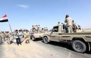 """""""وام"""": ألوية العمالقة اليمنية تسيطر على مفرق المخا غرب تعز"""