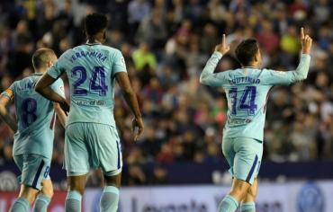 بطولة اسبانيا: ليفانتي يلحق اول هزيمة ببرشلونة هذا الموسم