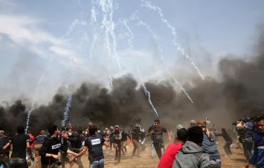 مجزرة على حدود قطاع غزة يوم نقل السفارة الأمريكية للقدس وذكرى النكبة