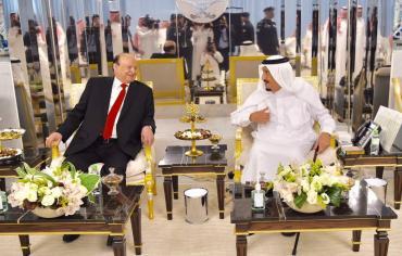 هادي يلتقي الملك سلمان في جدة ويبحثا تطورات الأزمة اليمنية