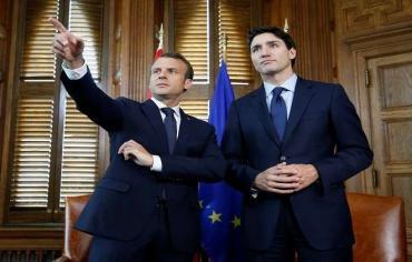"""ماكرون وترودو لا يستبعدان تحوّل مجموعة """"G7"""" إلى """"6+1"""" بسبب ترامب"""