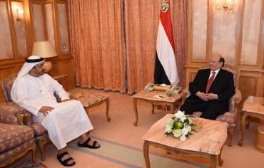 هادي يستقبل وزير الخارجية الإماراتي