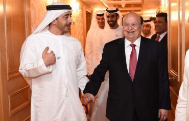 بدعوة رسمية ، الرئيس هادي يتوجه الثلاثاء الى ابوظبي