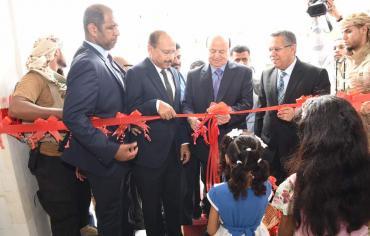 الرئيس هادي يدشن حزمة من المشاريع الخدمية في مجال الاتصالات والانترنت