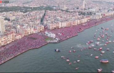 أقوى منافسي أردوغان على الرئاسة يحشد نحو 2.5 مليون من مناصريه
