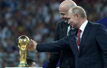 """بوتين يقول ان بلاده تعرضت لـ""""25 مليون هجوم الكتروني"""" خلال كأس العالم"""