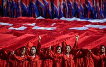 عرض عسكري كوري شمالي بلا صواريخ عابرة للقارات في الذكرى السبعين للبلاد